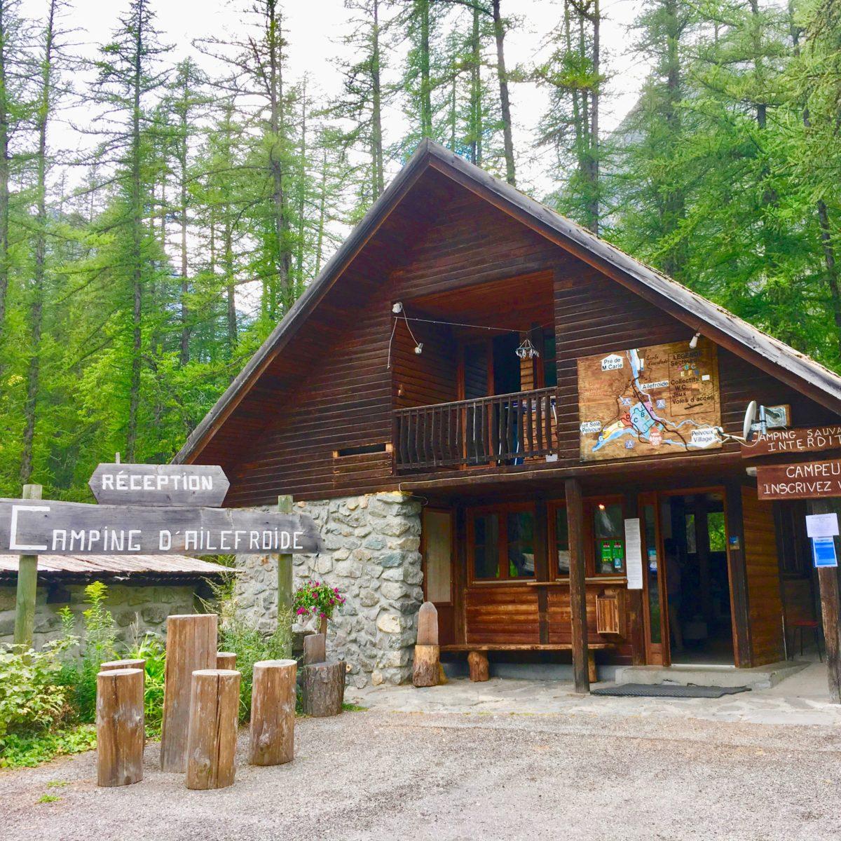 Ailefroide Campingplatz-Rezeption