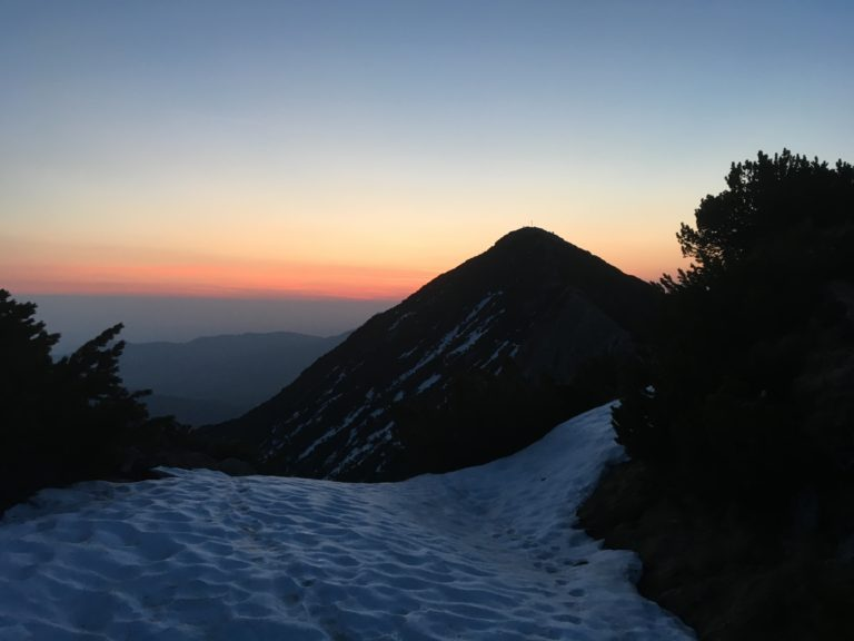 Sonnenaufgang auf der Brecherspitz am Spitzingsee
