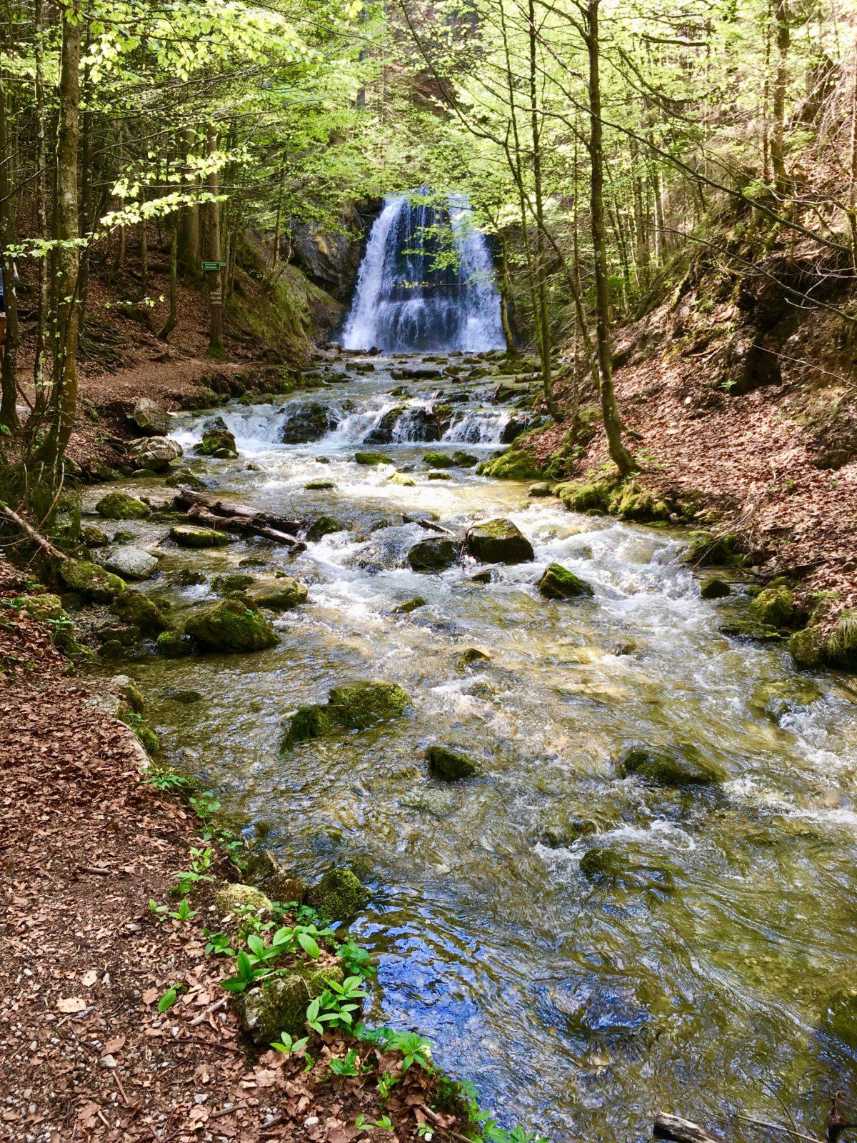 Der unterste Wasserfall