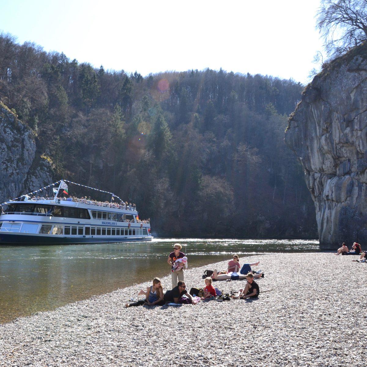 Strand am Donaudurchbruch