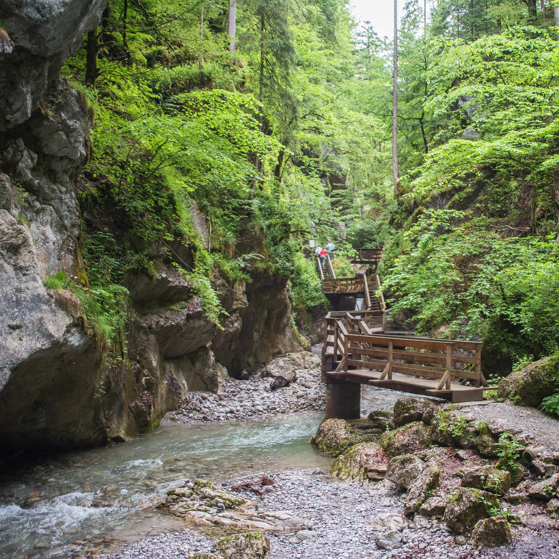 In der Seisenbergklamm, Bild: Salzburger Saalachtal Tourismus