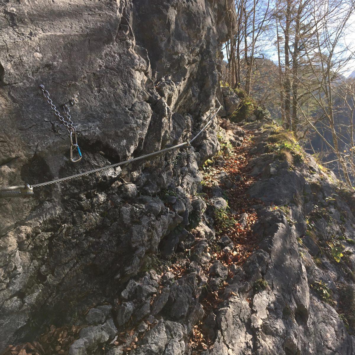 Mit Kindern im Klettersteig Zahme Gams in Weißbach bei Lofer