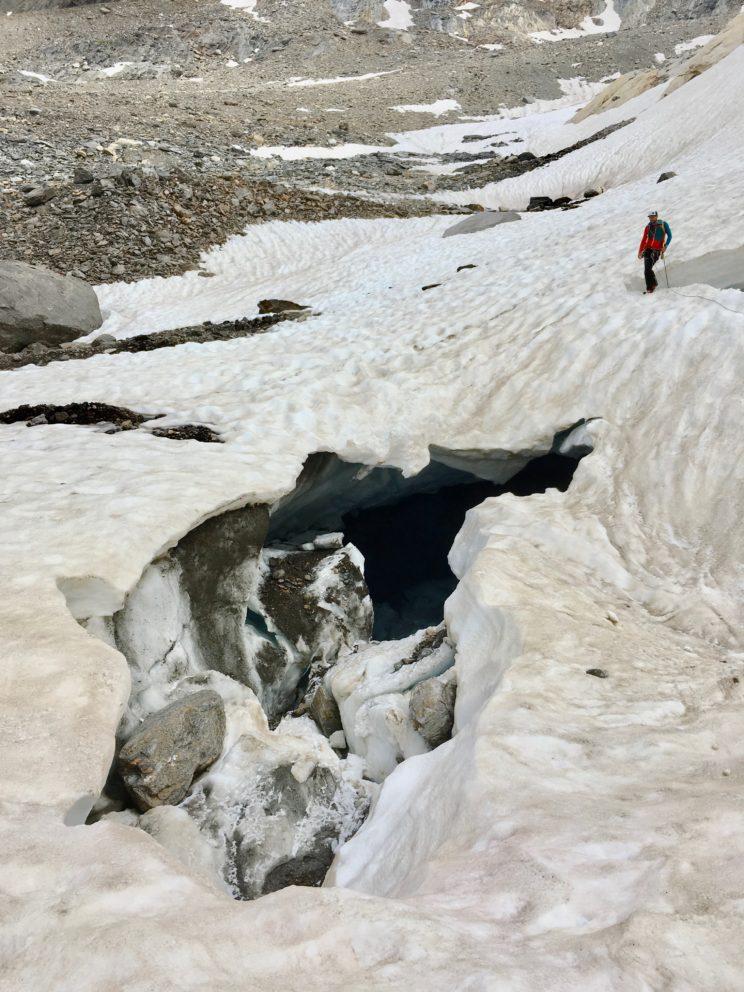 Die Gletscherspalte