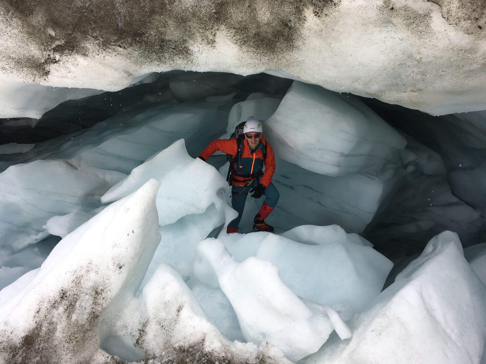 Gregor (jaeger-der-berge.de) in der Gletscherspalte