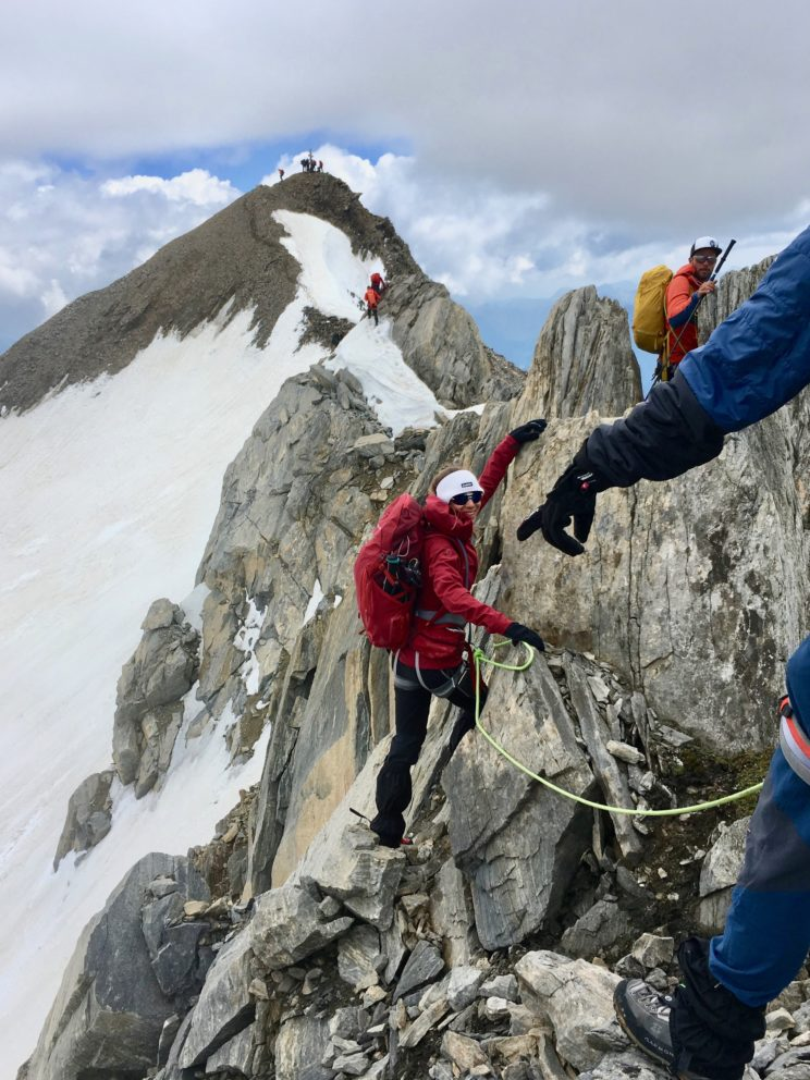 Felsiger Grat vor dem Gipfel
