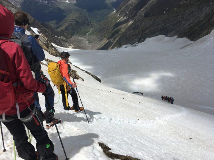 Endlich am Gletscher…