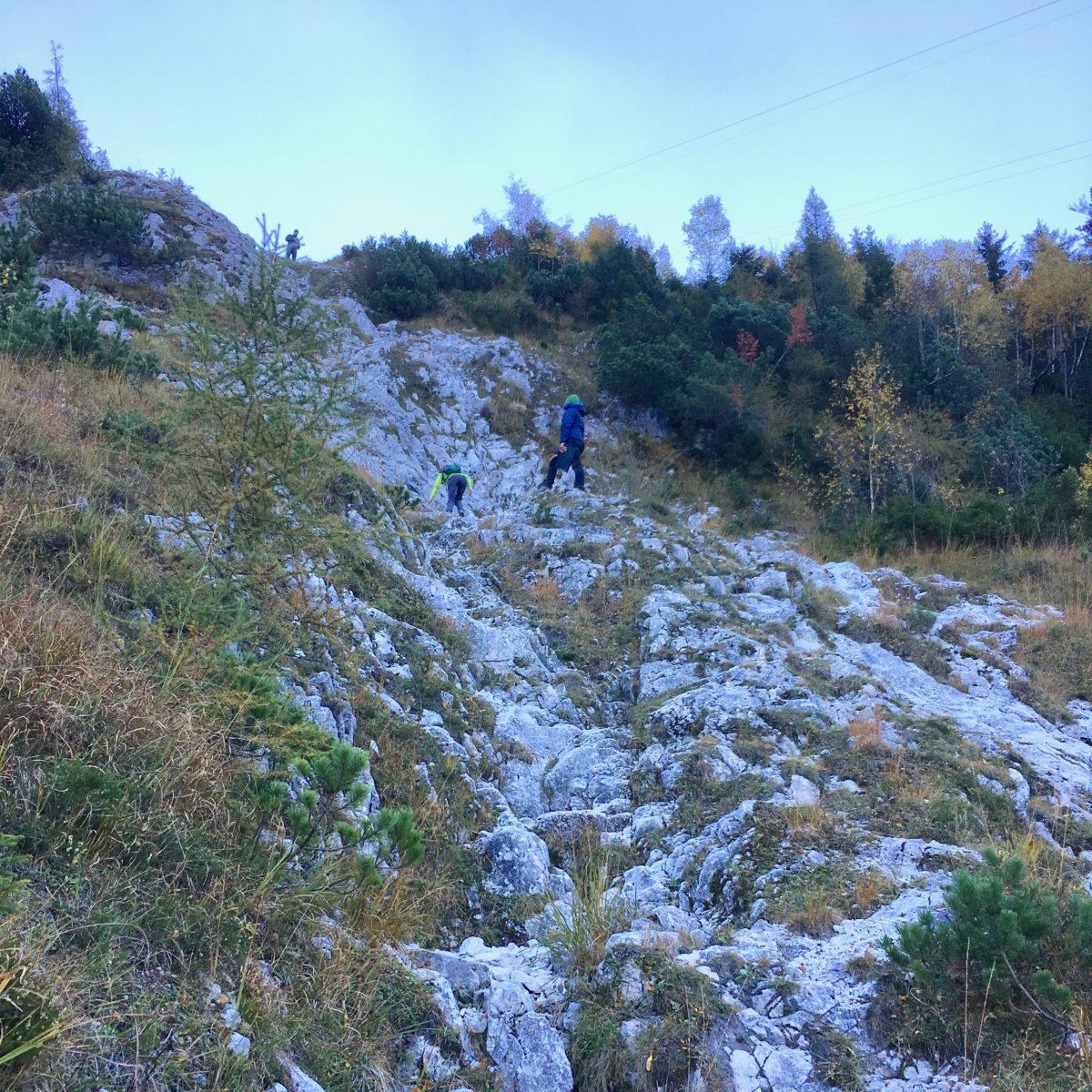 Prüfunsgteil 3: Kletterpassagen im Schrofen-Gelände