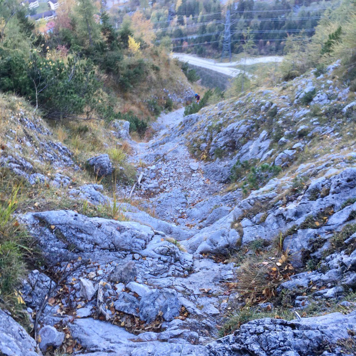 Ausstieg des Kletterteils