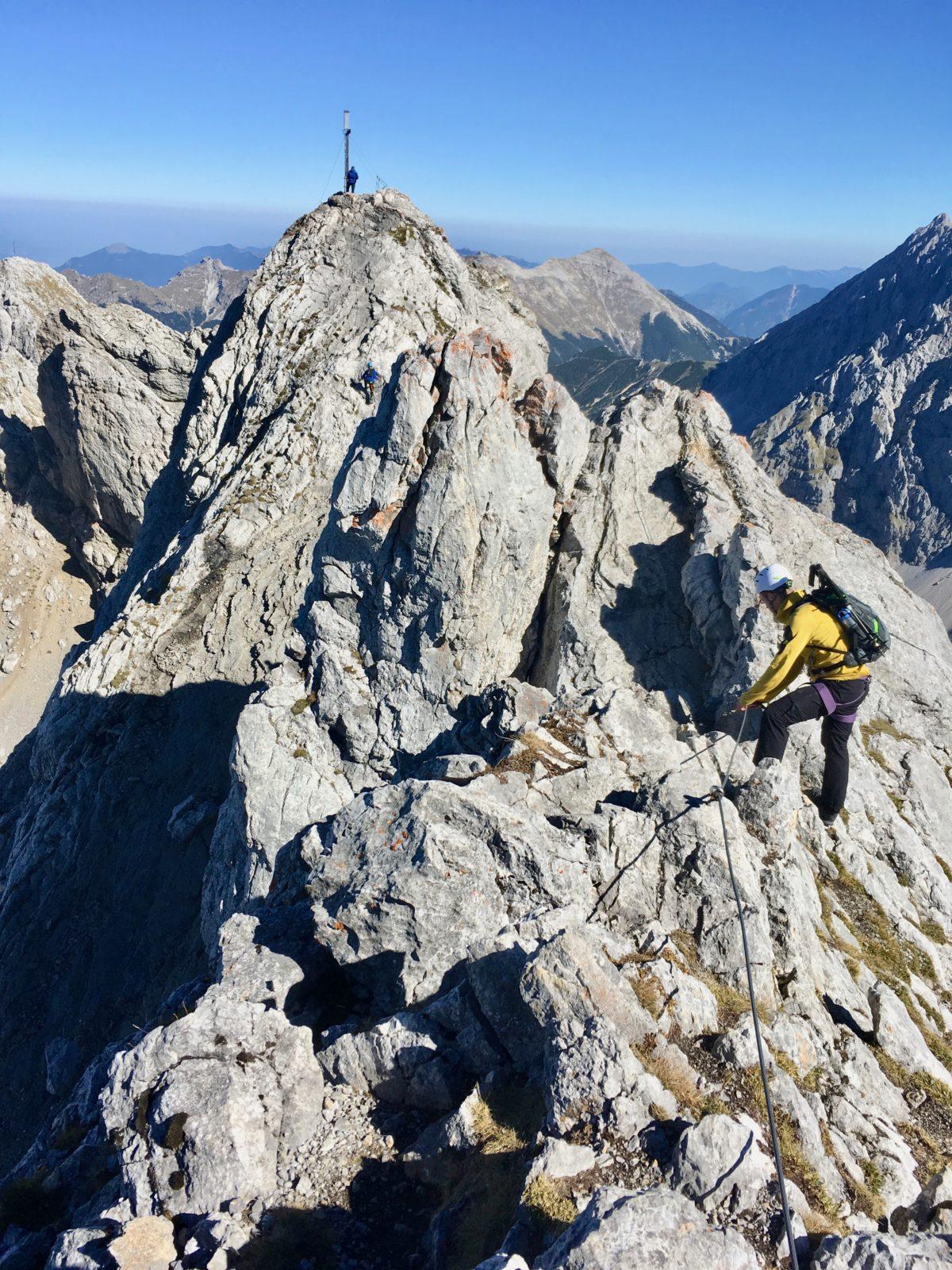 Der Klettersteig auf die Westliche Karwendelspitze