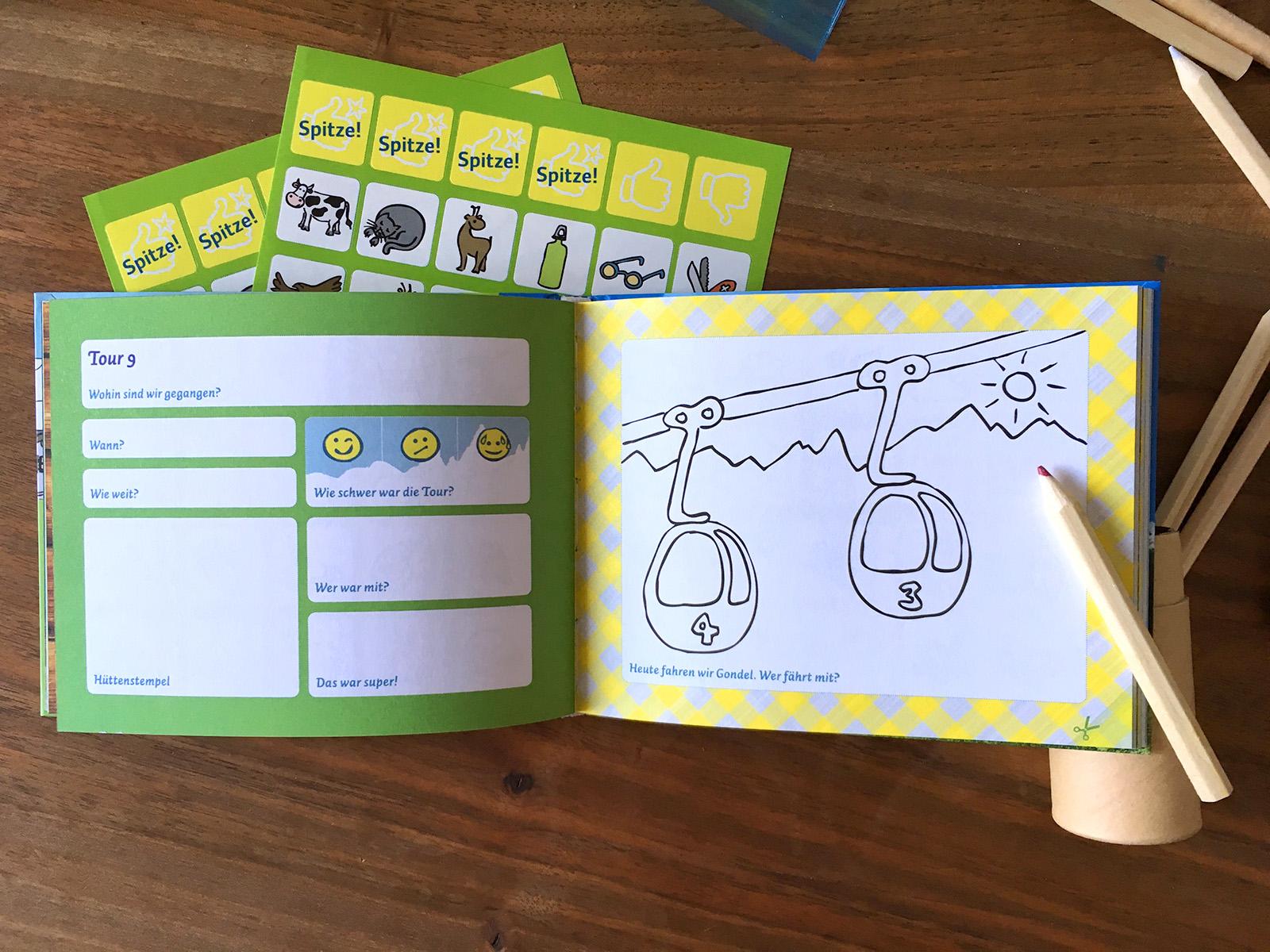 Meine Berge - Tourenbuch für Kinder - Zwerg am Berg Verlag