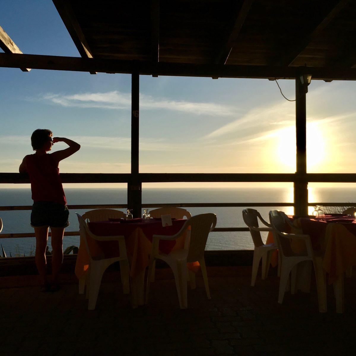 Sonnenuntergang in Nebida