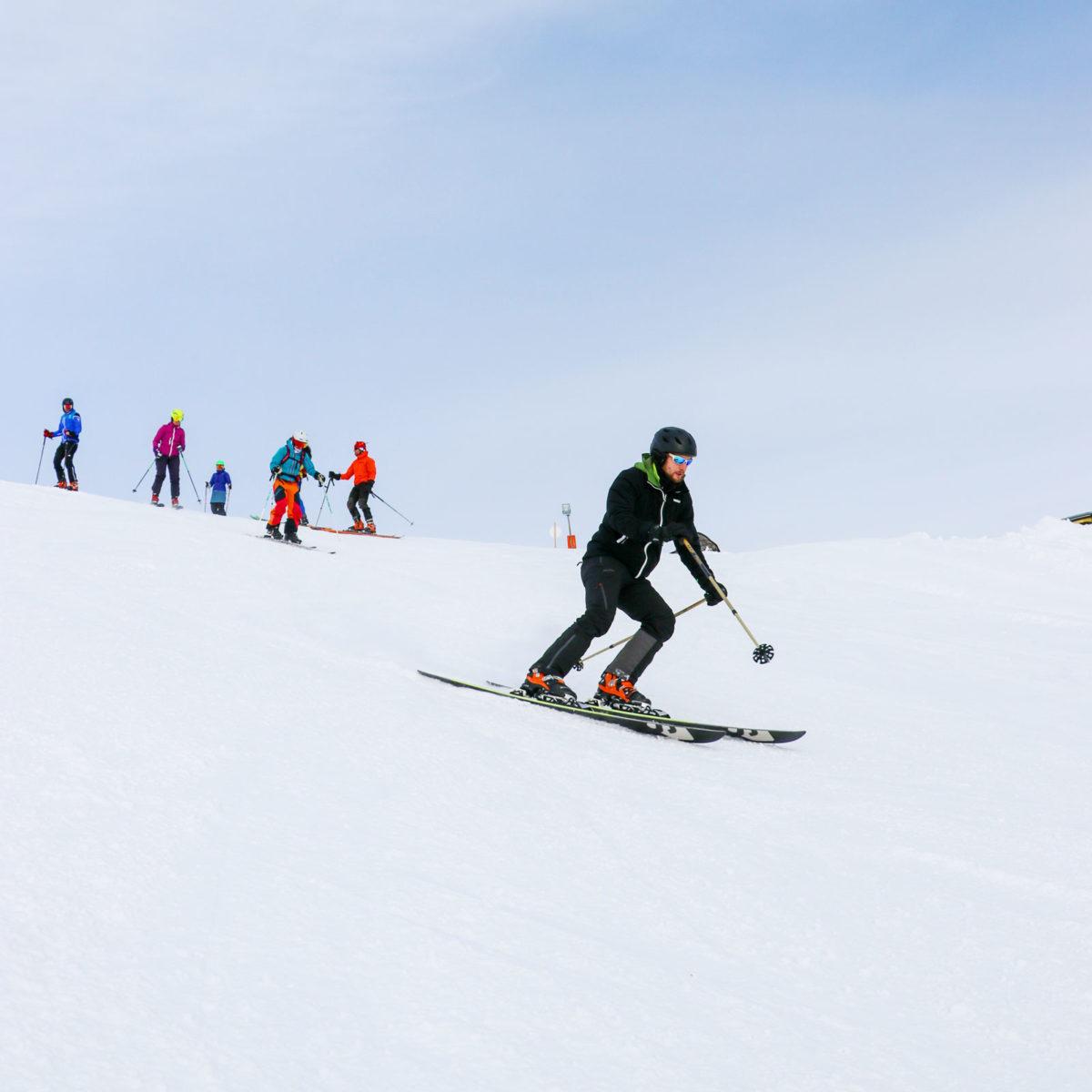 Zuerst im Alpinstil zum Ausprobieren.… Foto: Florian Peichler/ dieMedienSchmiede.at