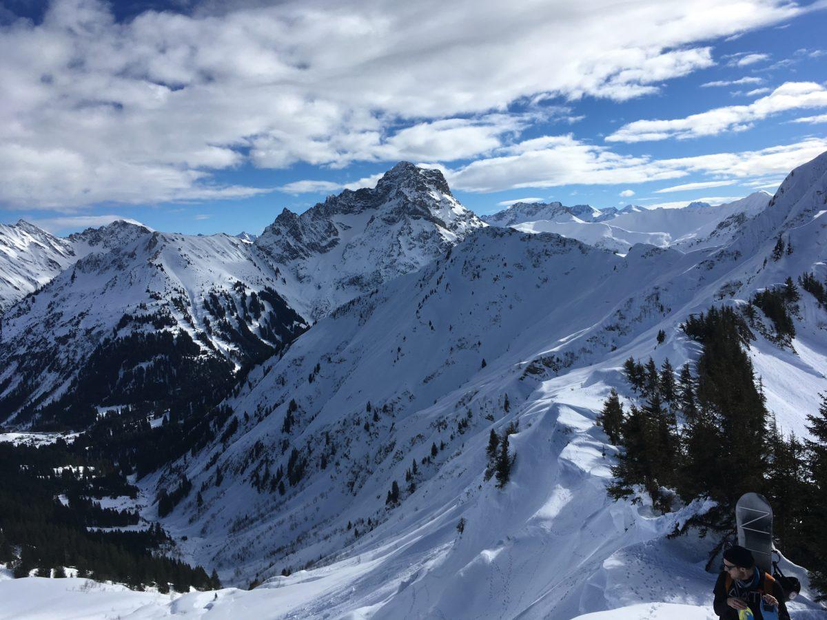 Blick hinüber zum Großen Widderstein