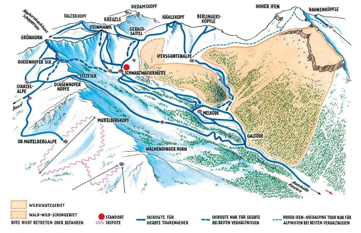 Natuerlich auf Tour: Touren um die Schwarzwasserhütte. Quelle: https://www.alpenverein.de/natur/naturvertraeglicher-bergsport/natuerlich-auf-tour/tourengebiete/-natuerlich-auf-tour_aid_32676.html