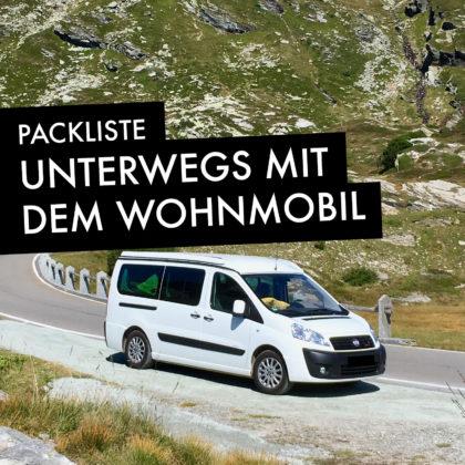 Packliste Wohnmobiltouren - Sommer
