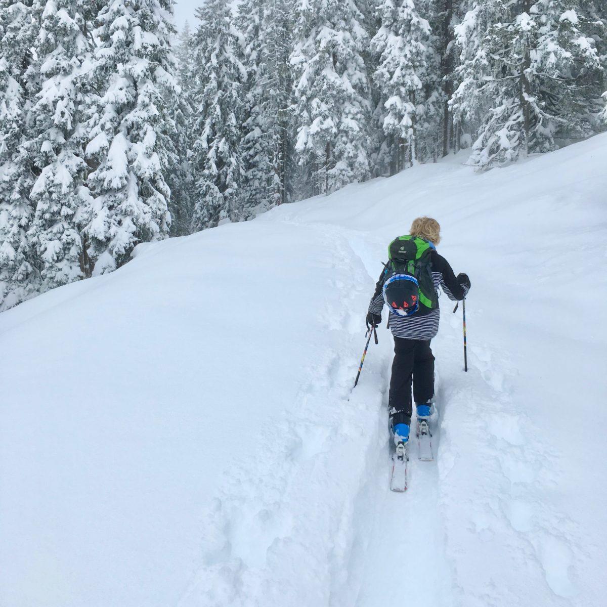 Skitour mit Kindern: Beim Aufstieg zum Hochkeil am Hochkönig