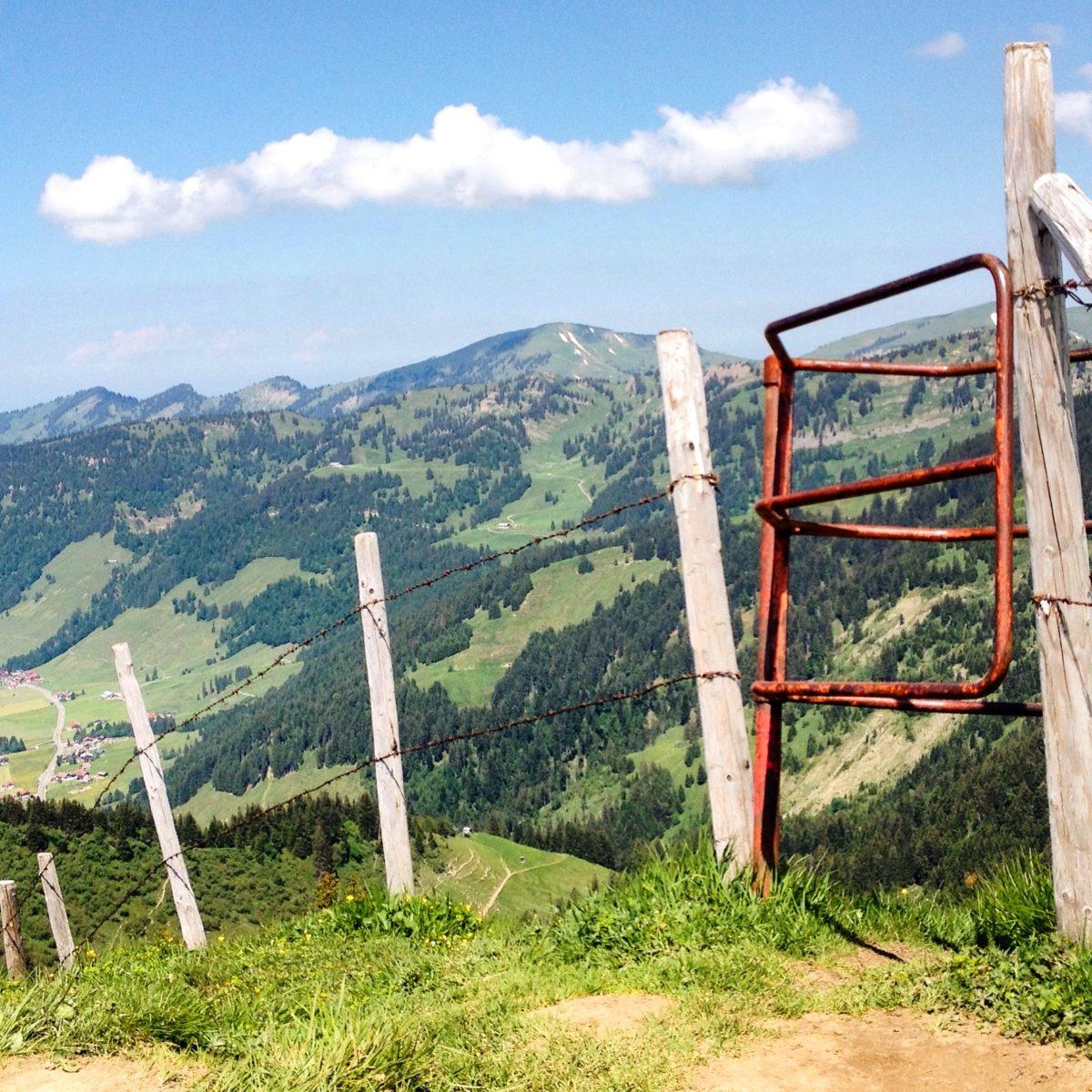 Blick vom Riederbergerhorn auf Balderschwang