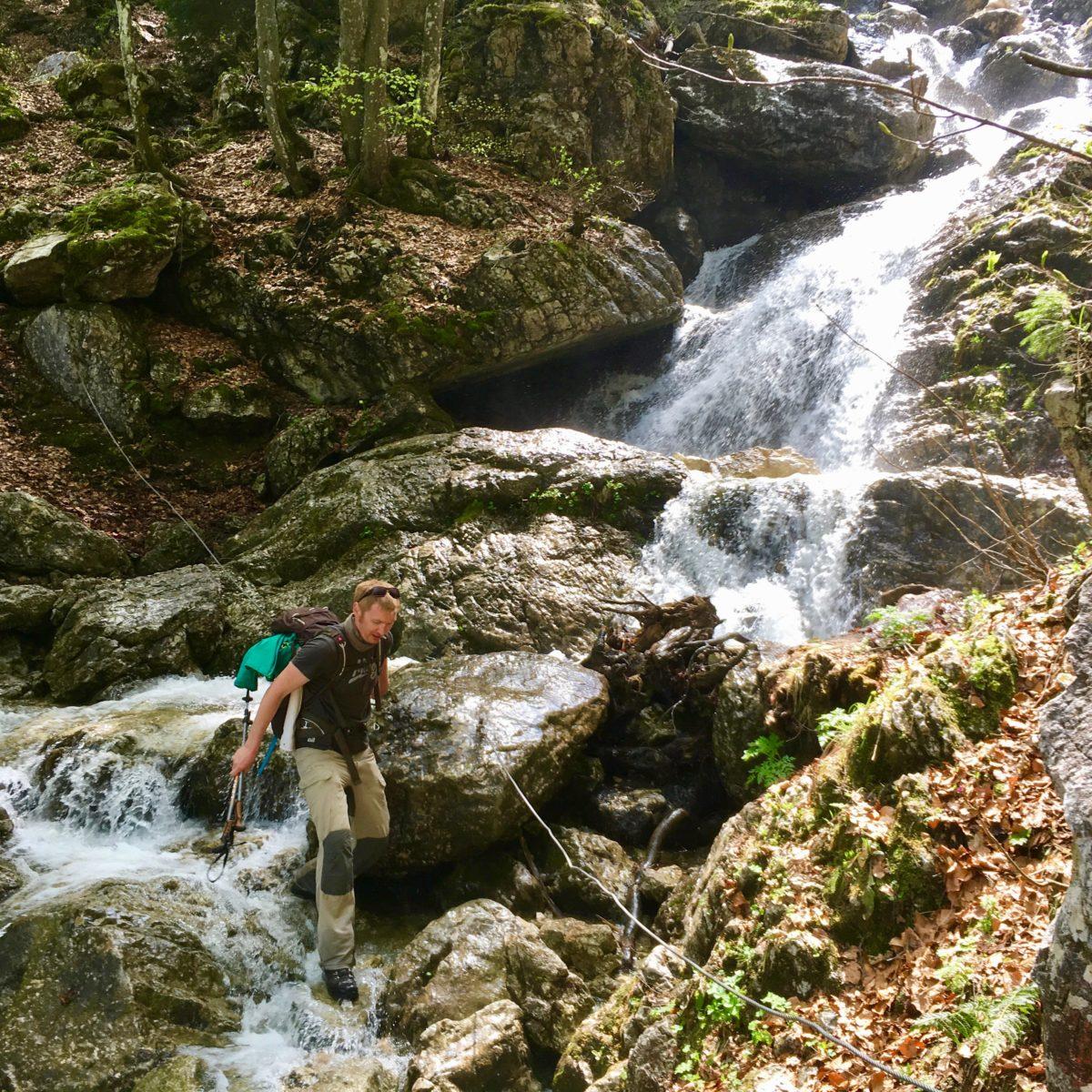 Beim Abstieg von der Probst-Alm ins Längental