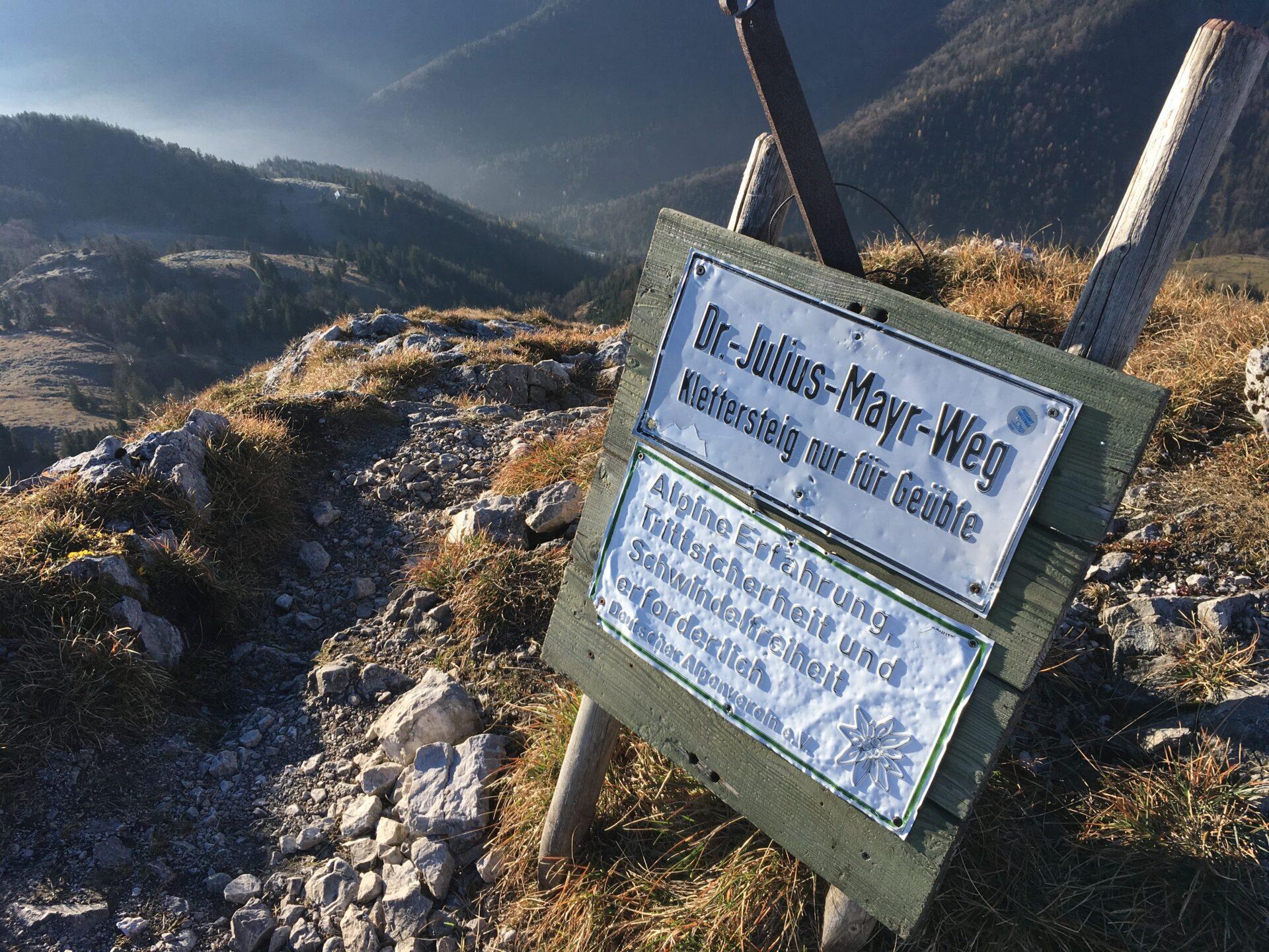 Der Klettersteig zum Brünnstein-Gipfel