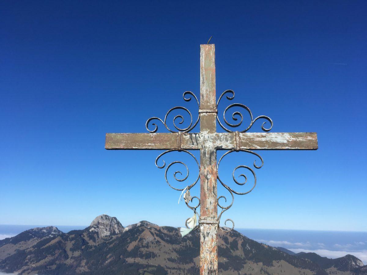 Gipfelkreuz am Großen Traithen