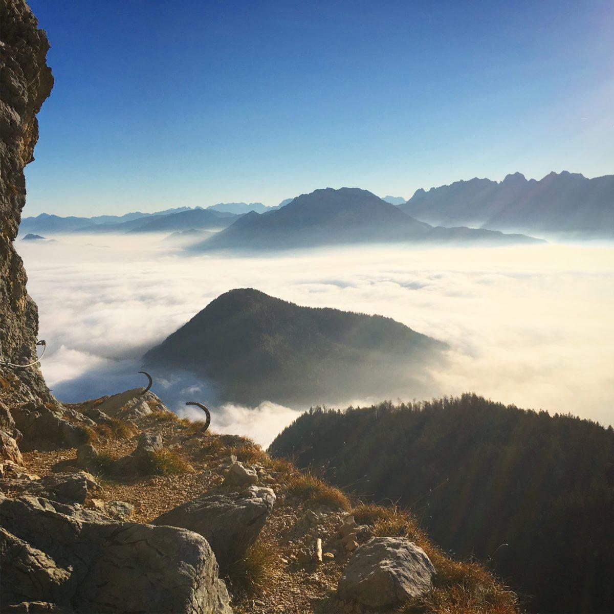 Ausblick im Klettersteig