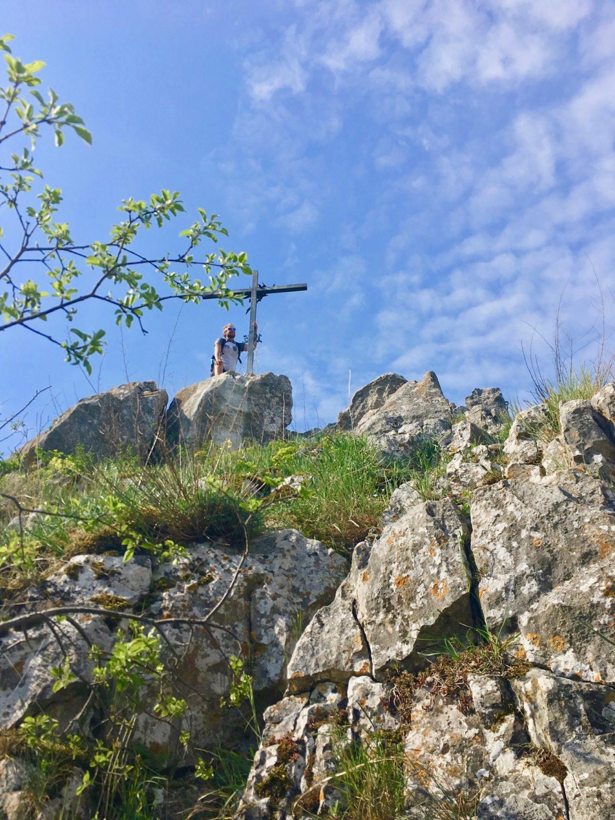 Kleiner Abstecher auf den Burgfelsen in Dollnstein