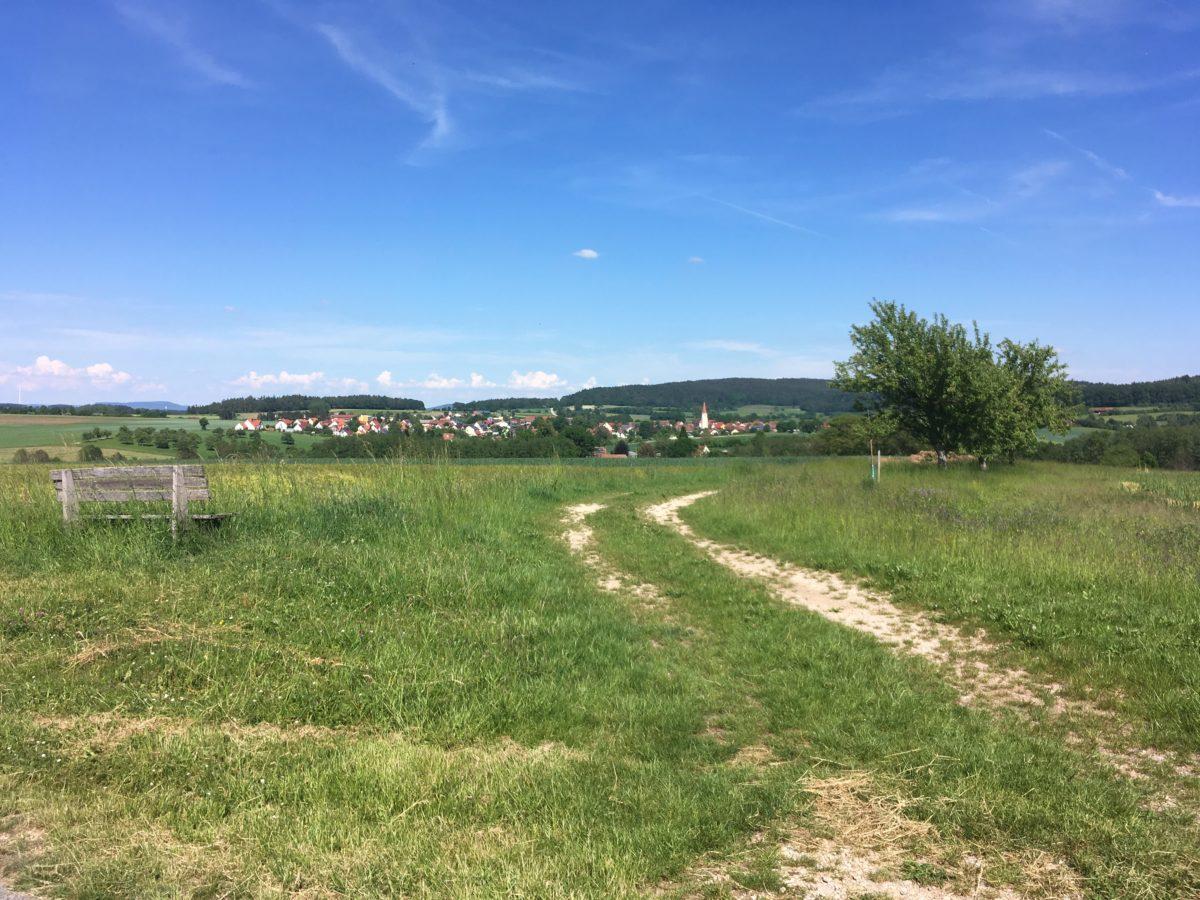 Ausblick vom Gredlradweg auf Eysölden