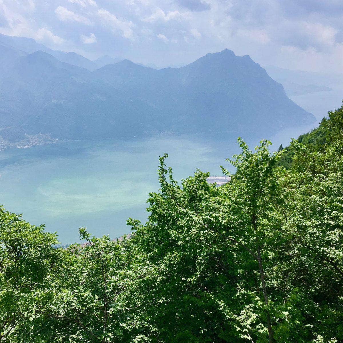 Ausblick von der Villa Caprera auf den Iseosee