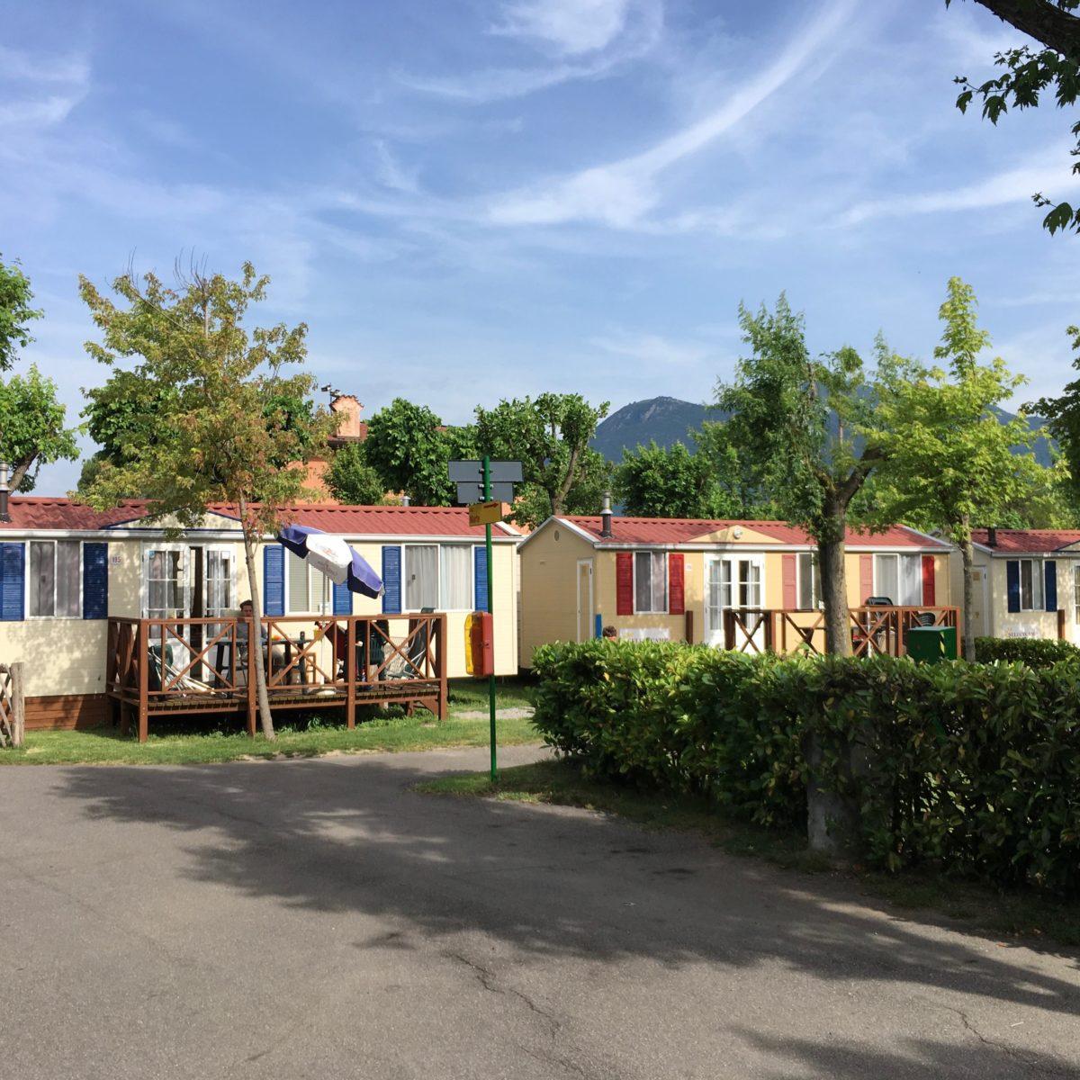 Am Campingplatz Campeggio del Sole in Iseo