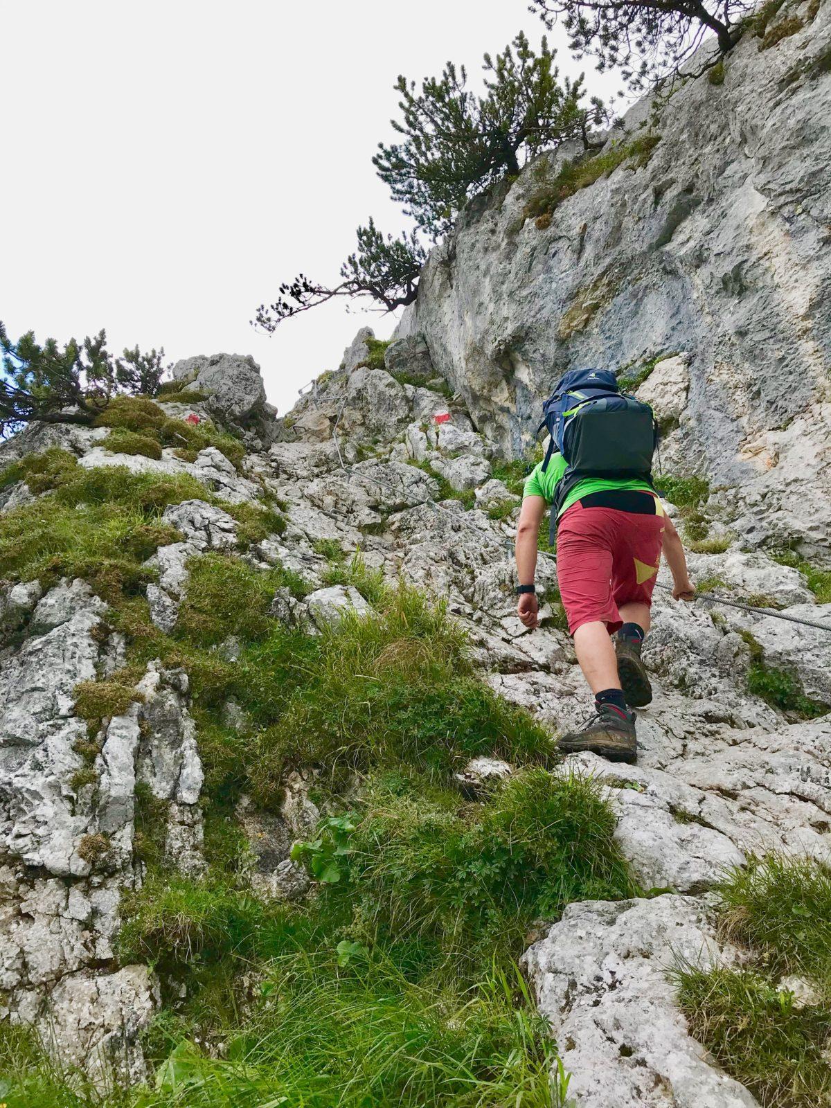 Die letzten Meter zum Kofel-Gipfel