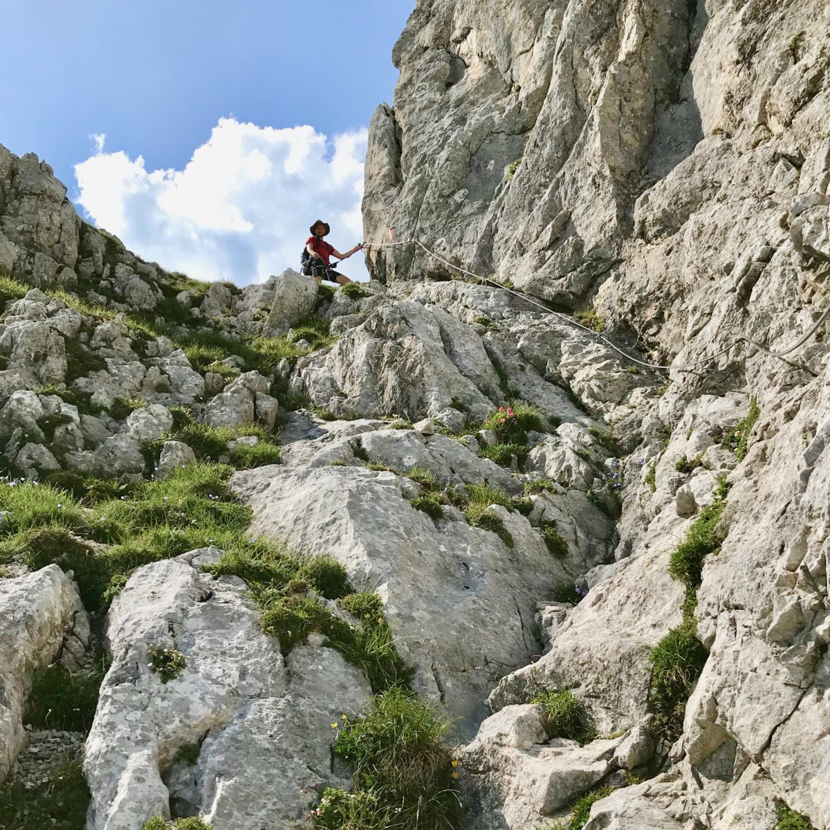 Im Hexensteig-Klettersteig