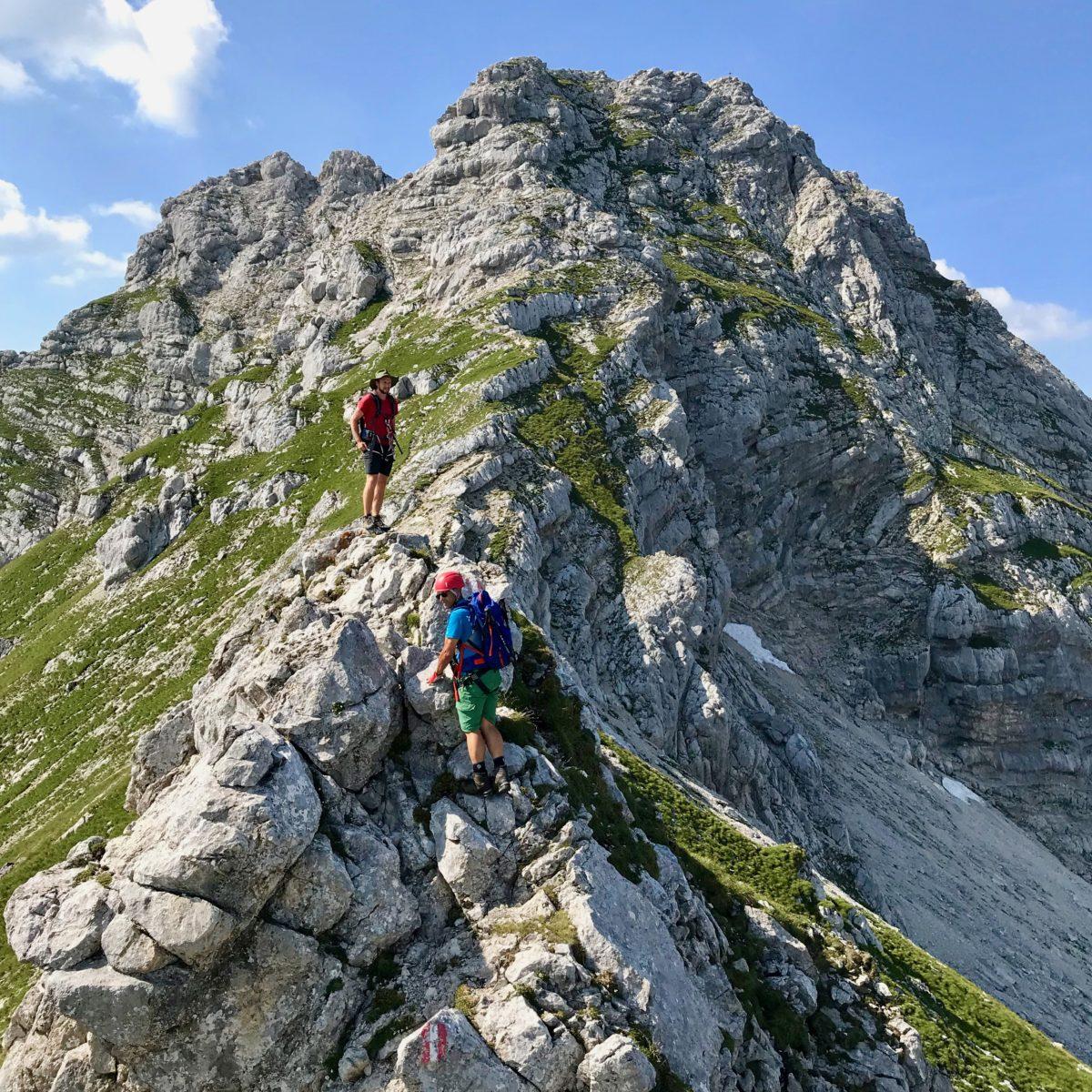 Der letzte Aufschwung im Klettersteig