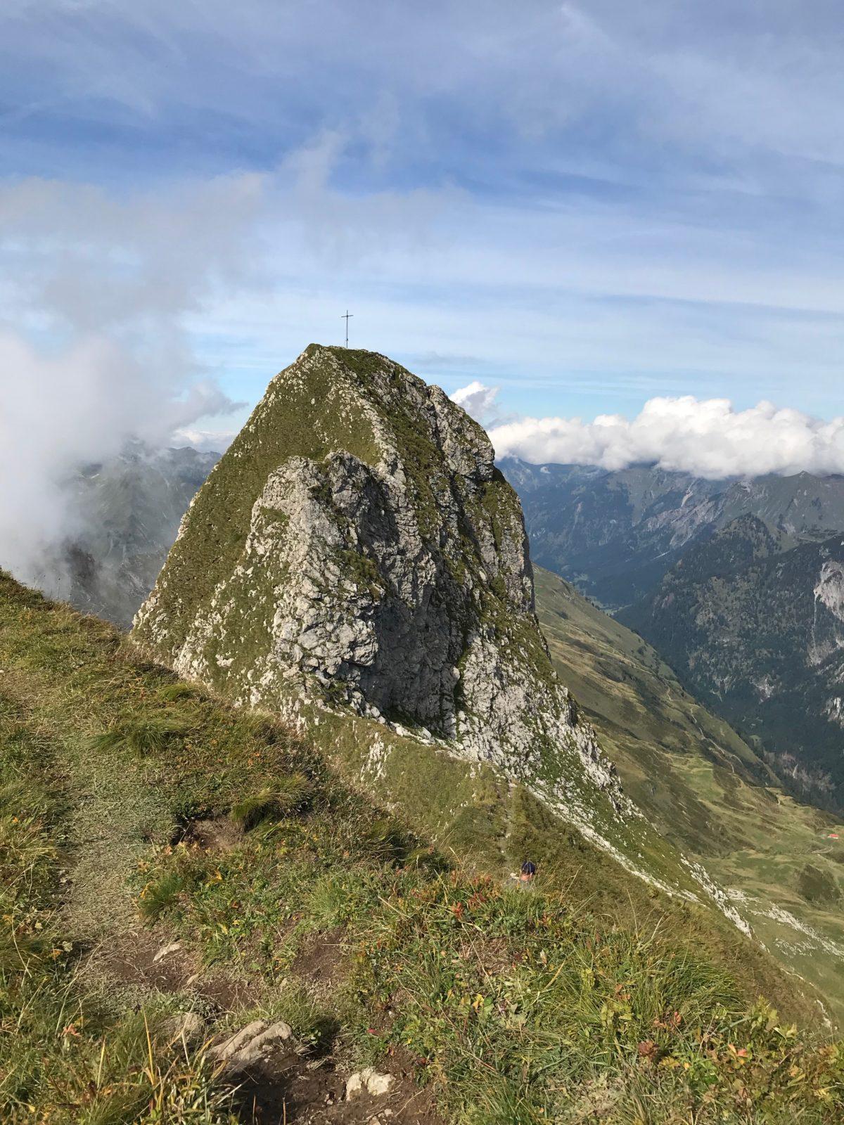 Der Schneck-Gipfel mit seiner Grat-Schneide