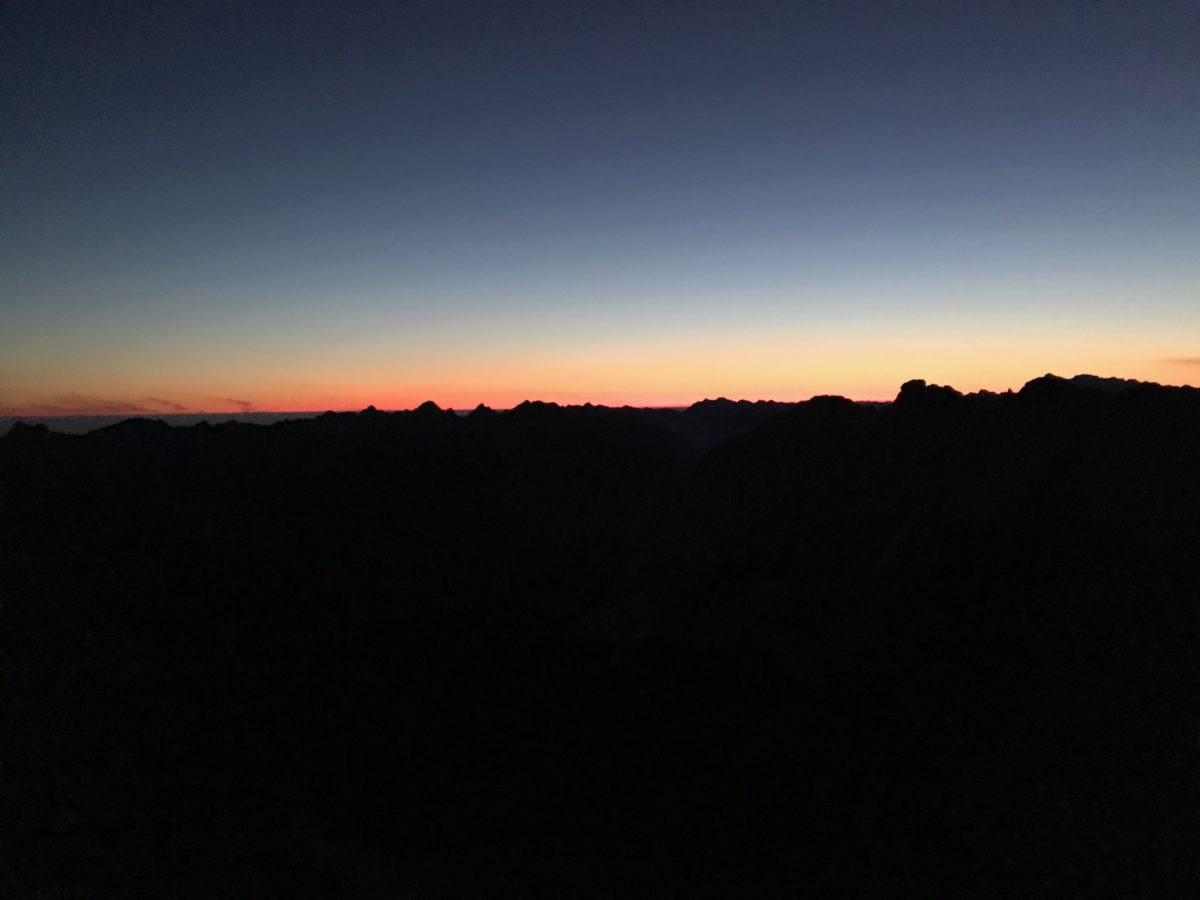 Sonnenaufgang an der Kreuzspitze