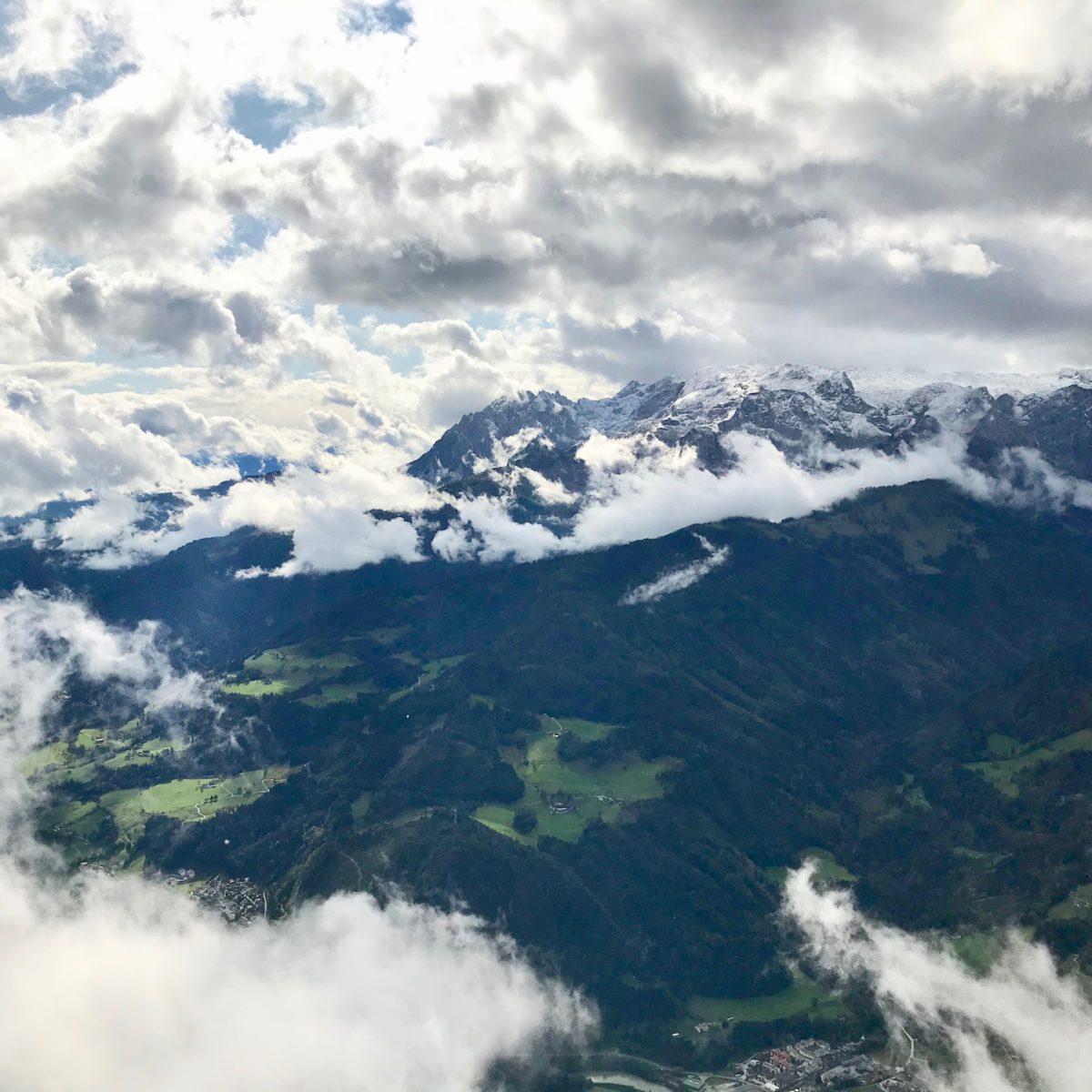 Ausblick in die wilden Wolken
