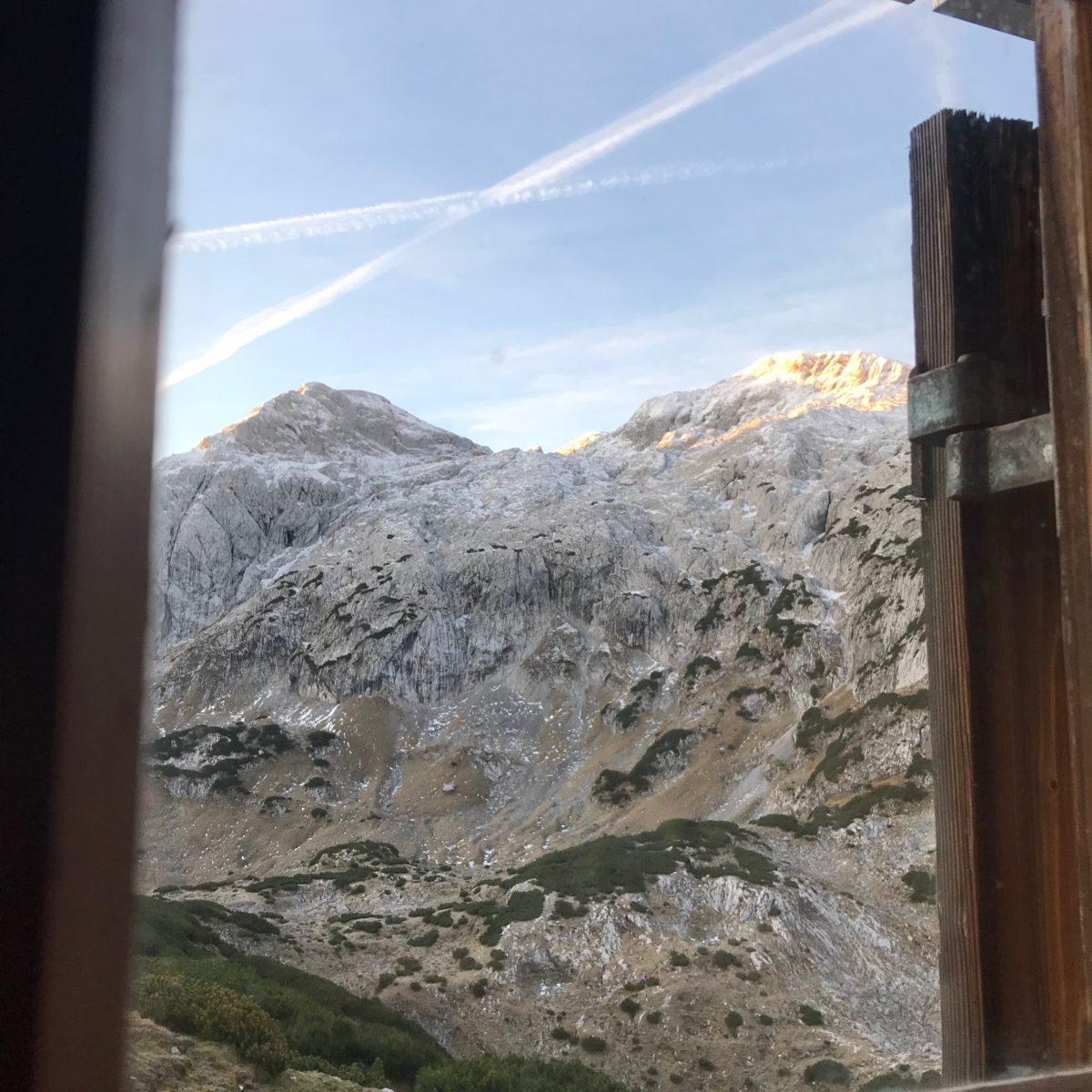 Ausblick vom Happischhaus ins Tennengebirge