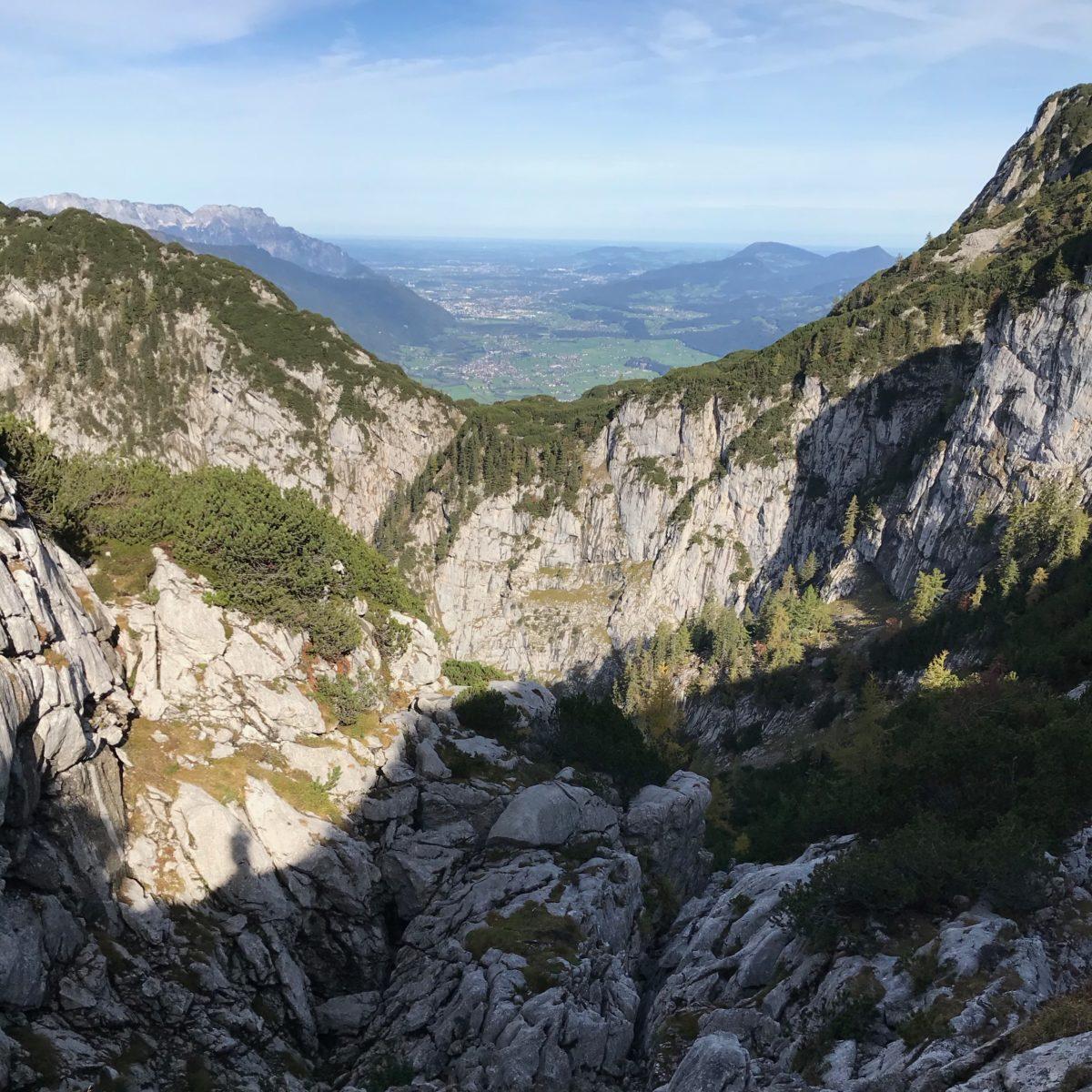 Ausblick ins Salzburger Land und auf die erste Steilstufe