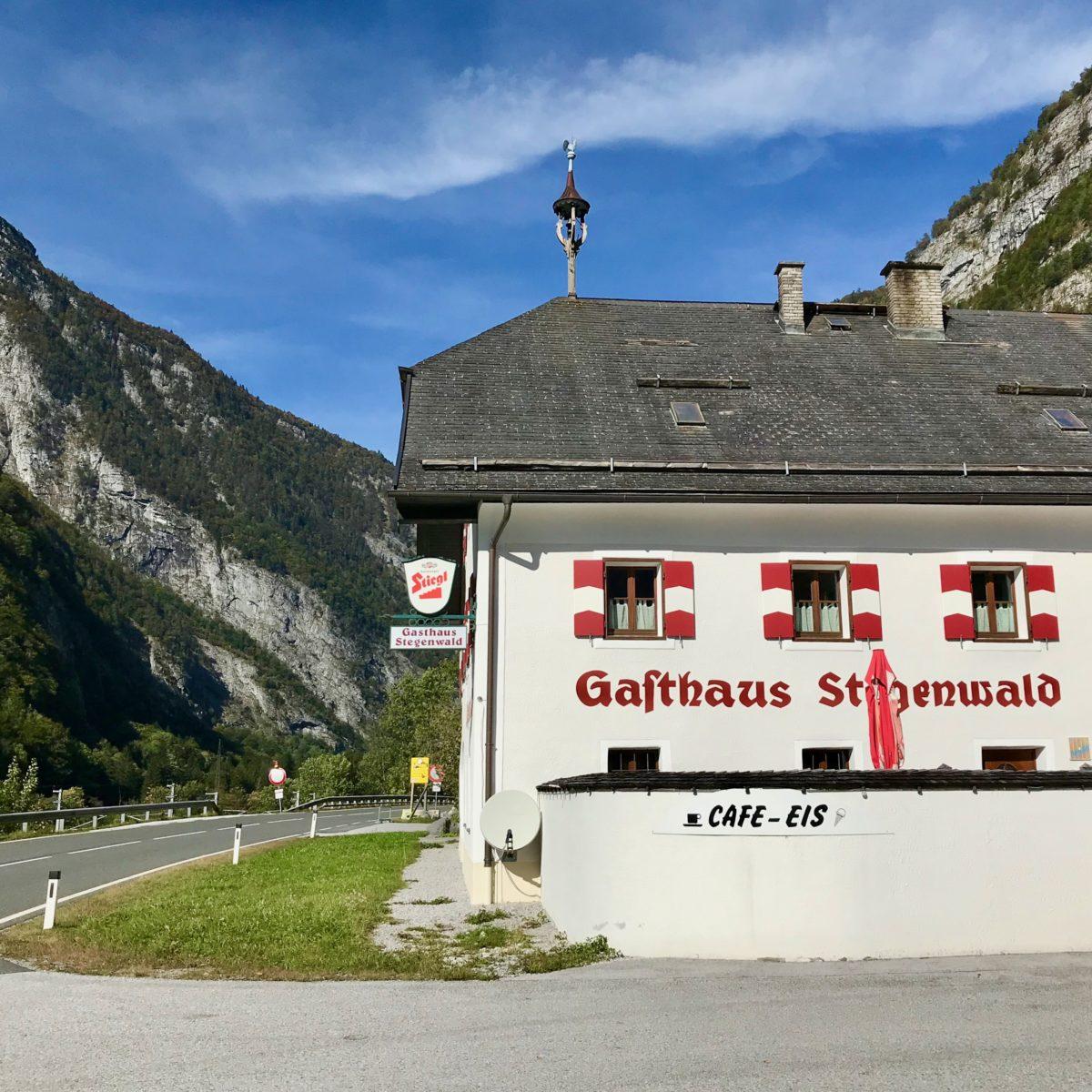 Ende Gelände: Am Gasthaus Stegerwald… zurück geht's mit dem Taxi.