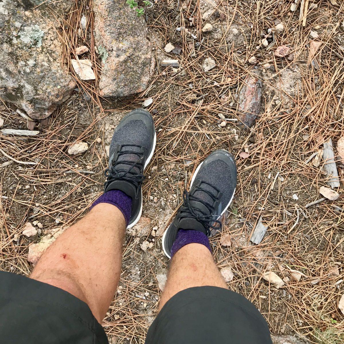 Nach dem Regen ist vor dem Trocknen: adidas terrex free hiker Wanderschuh