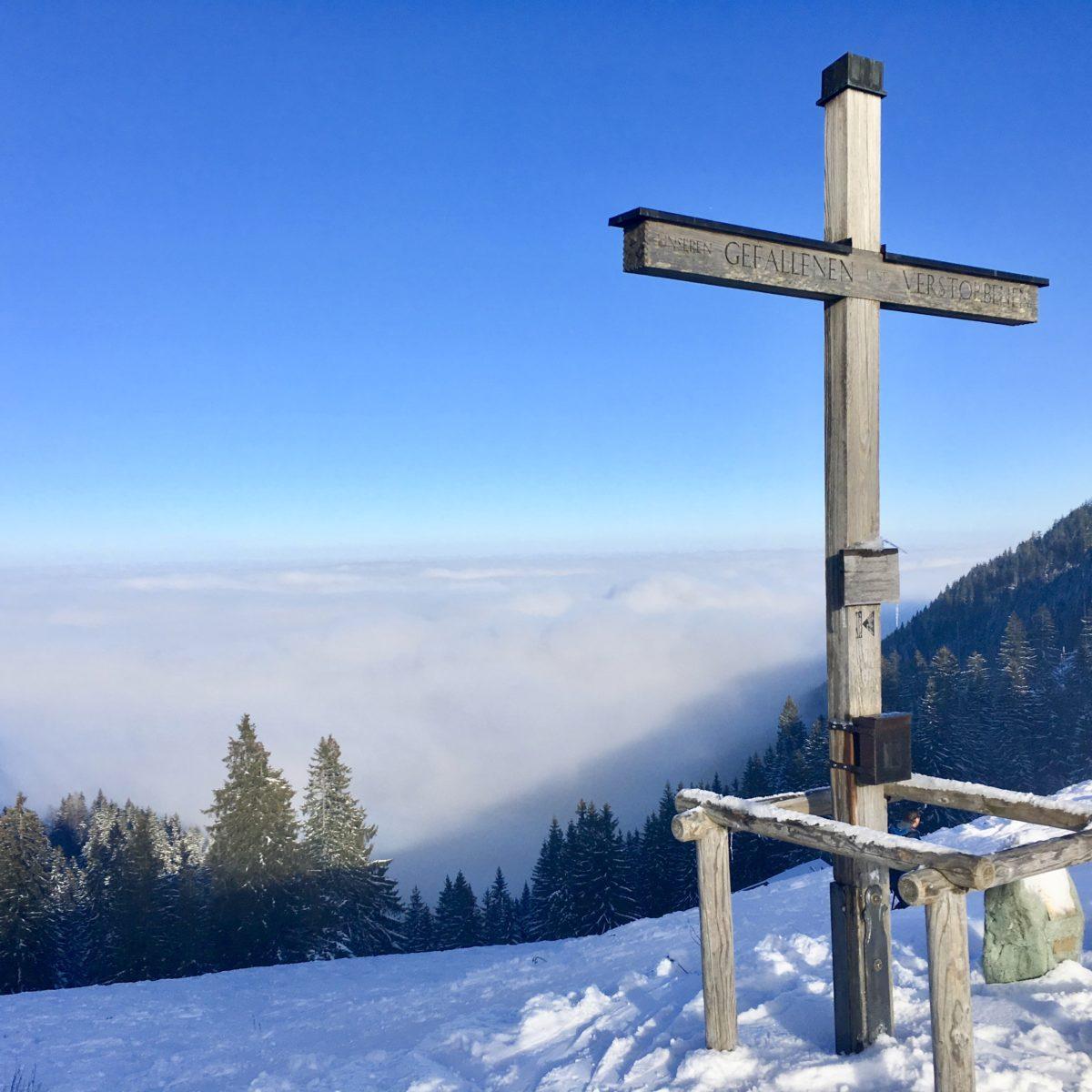 Ehemalige Piste, jetzt Skitourenlehrpfad am Unternberg bei Ruhpolding