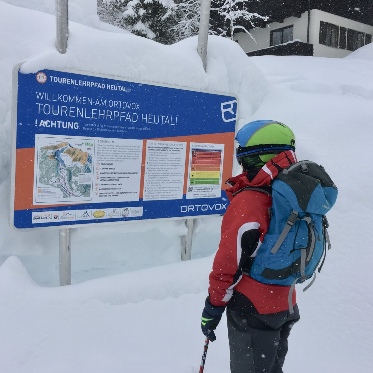Skitouren-Lehrpfad im Heutal