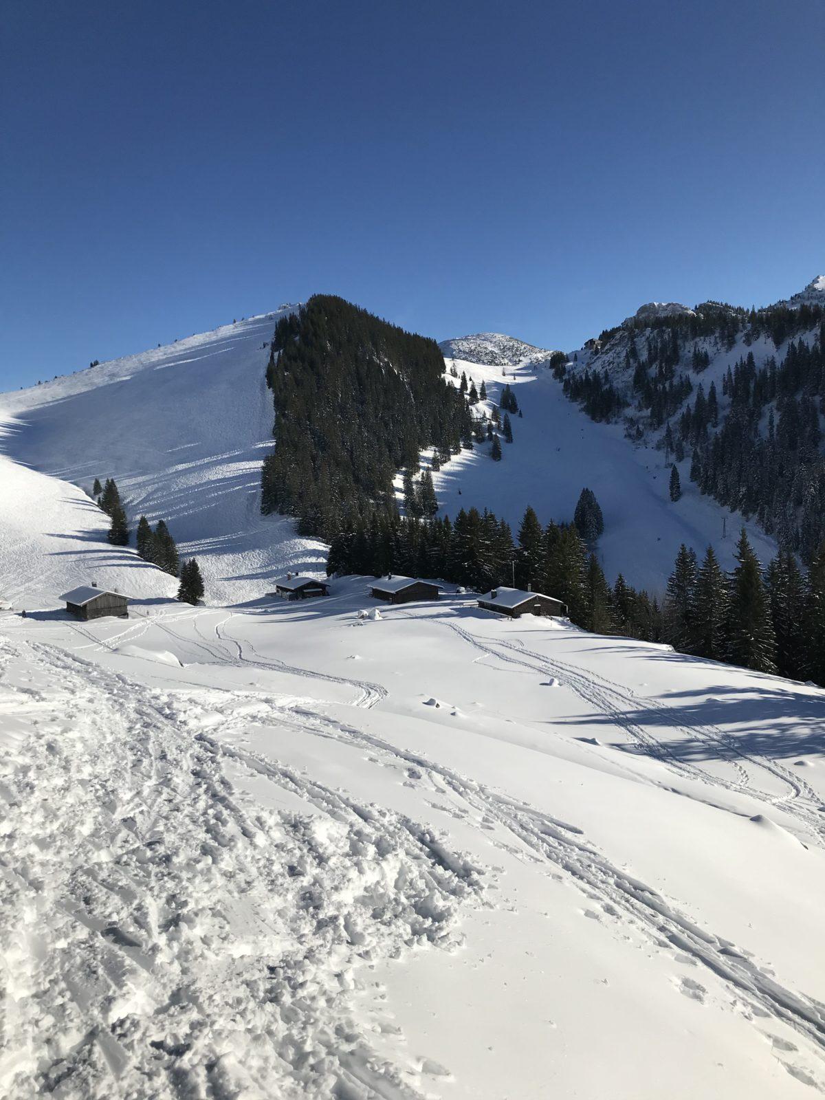 Ehemaliges Skigebiet, jetzt Skitourengebiet am Taubenstein/Spitzingsee