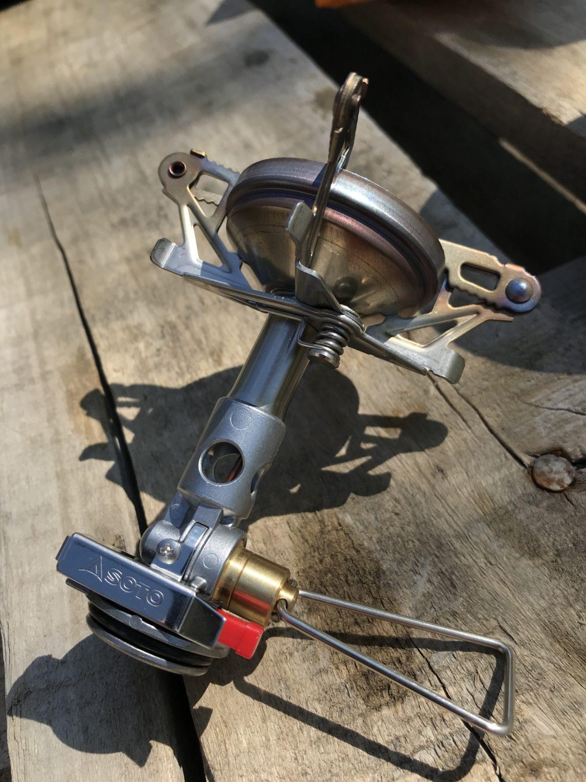 Soto Windmaster Gaskocher: 67 Gramm und ein Packmaß von 47 x 77 x 44 mm
