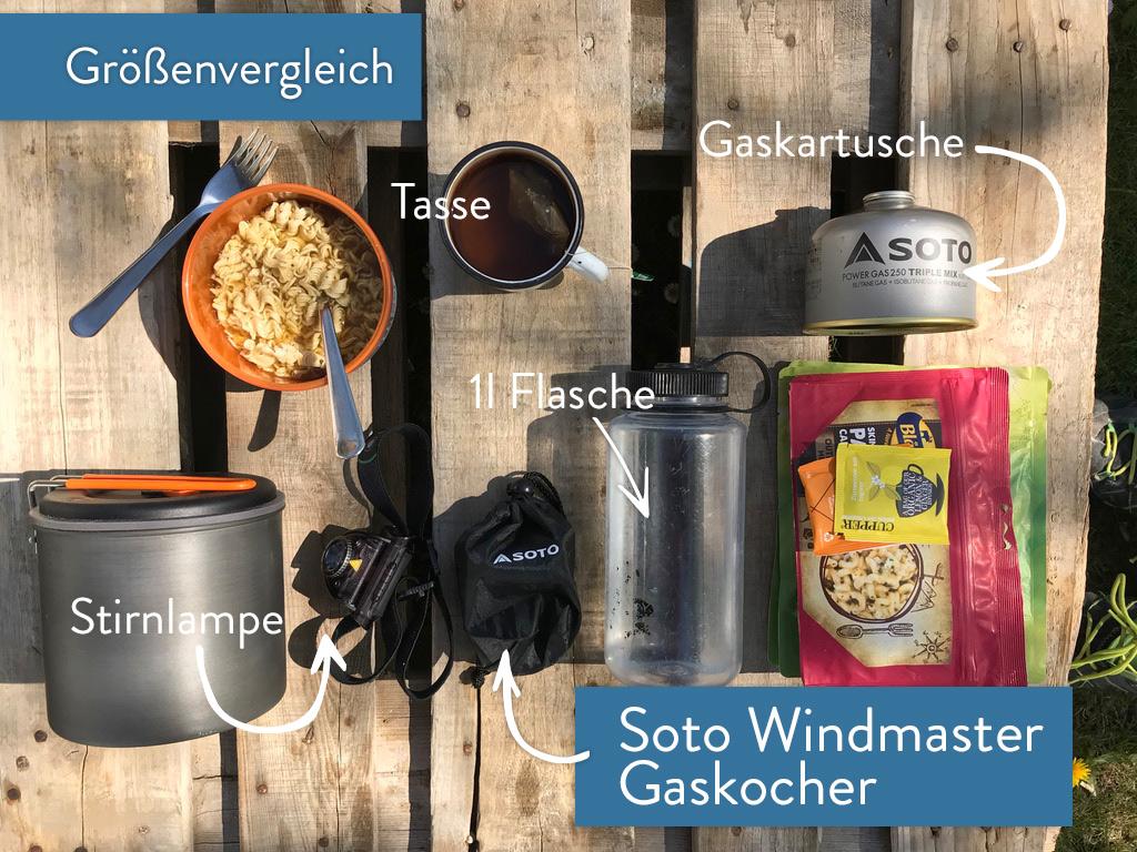 Soto Windmaster Größenvergleich
