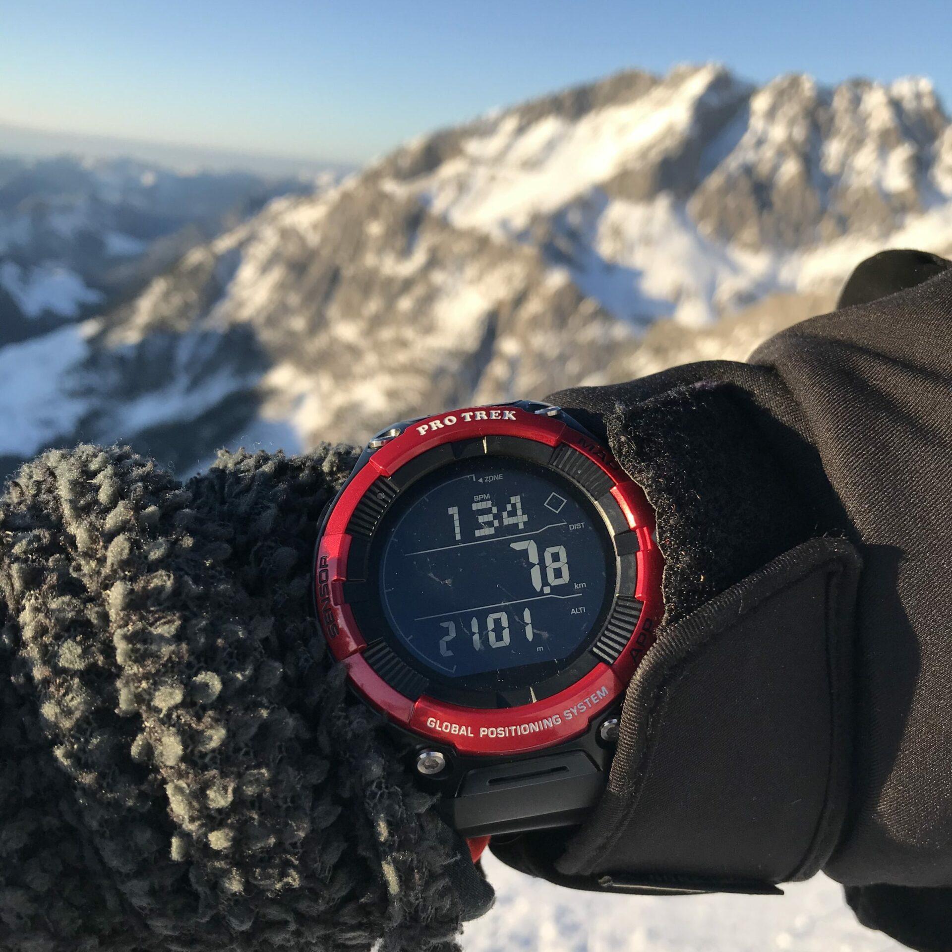 Die CASIO PRO TREK WSD F21HR auf Skitour im Steinernen Meer